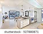 Modern Kitchen With A Dining...