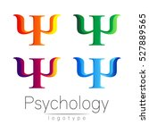 modern logo set of psychology.... | Shutterstock .eps vector #527889565