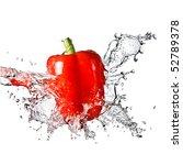Fresh Water Splash On Red Sweet ...