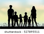 family silhouettes . silhouette ... | Shutterstock .eps vector #527895511