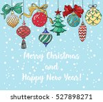 christmas card with christmas... | Shutterstock .eps vector #527898271