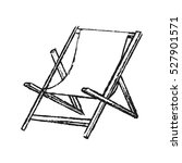 isolated beach chair design | Shutterstock .eps vector #527901571