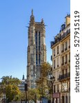 Small photo of Saint-Jacques Tower is a monument located in Paris, France. This 52-metre (171 ft) Flamboyant Gothic tower is all that remains of the former 16th-century Church