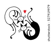 couple of cat  sketch for your... | Shutterstock .eps vector #527919979