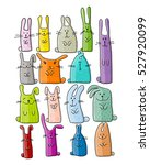 funny rabbits collection for... | Shutterstock .eps vector #527920099