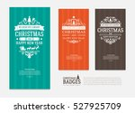 set of colorful merry christmas ... | Shutterstock .eps vector #527925709