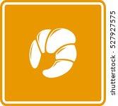 croissant sign | Shutterstock .eps vector #527927575