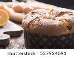 panettone. traditional italian...   Shutterstock . vector #527934091