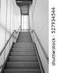 stairs inside white and metal... | Shutterstock . vector #527934544