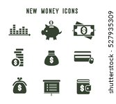 flat money business icons set.... | Shutterstock .eps vector #527935309