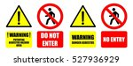 asbestos warning sign do not... | Shutterstock .eps vector #527936929