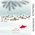 winter christmas background... | Shutterstock .eps vector #527947861