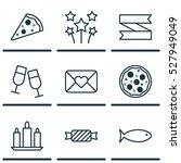 set of 9 christmas icons. can...