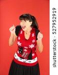 front view on single joyful...   Shutterstock . vector #527952919