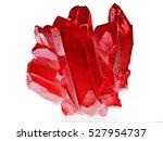 amazing rare red quartz...   Shutterstock . vector #527954737