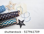 christmas present wrapping... | Shutterstock . vector #527961709