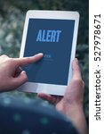 Small photo of Alert, Business Concept