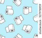 seamless doodle pattern. toilet ... | Shutterstock .eps vector #527978959