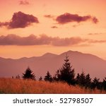 mountain landscape with the sky ... | Shutterstock . vector #52798507