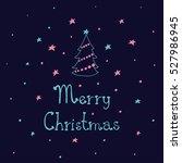merry christmas card. christmas ... | Shutterstock .eps vector #527986945