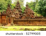 banteay srei wat  siem reap ... | Shutterstock . vector #52799005