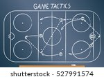 hockey tactics scheme drawn on... | Shutterstock .eps vector #527991574
