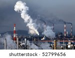 industrial plant with smoke...