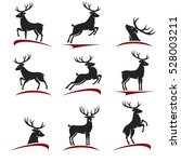 deer set. vector | Shutterstock .eps vector #528003211