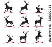 deer set. vector   Shutterstock .eps vector #528003211