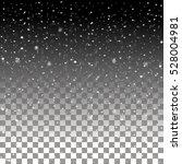 falling snow on dark background.... | Shutterstock .eps vector #528004981