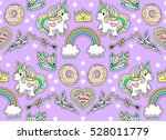 seamless fashion pattern. set... | Shutterstock .eps vector #528011779