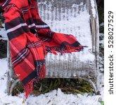 Red Vintage Blanket Tartan Coz...