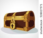 closed treasure chest | Shutterstock .eps vector #528027571