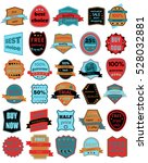 set of thirty badges with... | Shutterstock . vector #528032881