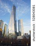 one wtc skyscraper at sunset  ... | Shutterstock . vector #528043081