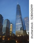 one wtc and adjacent... | Shutterstock . vector #528043099