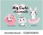 Stock vector cute animals vector 528050845