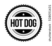 hot dog vintage stamp vector | Shutterstock .eps vector #528051631