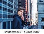 young american man traveling in ... | Shutterstock . vector #528056089