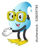 mascot illustration of a water... | Shutterstock .eps vector #528059785