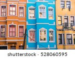 colorful house from istanbul... | Shutterstock . vector #528060595