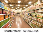 blurred image of snacks and...   Shutterstock . vector #528063655