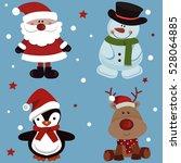 Christmas Set Of Santa Claus ...