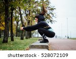 wman in functional training... | Shutterstock . vector #528072109