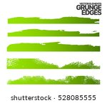 set of grunge and ink stroke... | Shutterstock .eps vector #528085555
