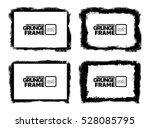 grunge frame texture set  ... | Shutterstock .eps vector #528085795