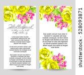 vintage delicate invitation... | Shutterstock . vector #528093871