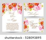 vintage delicate invitation... | Shutterstock . vector #528093895