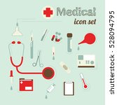 medical icon set vector design | Shutterstock .eps vector #528094795