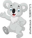 Cartoon Funny Koala Isolated On ...